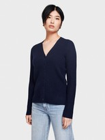 White + Warren Cashmere Ribbed Cardi-top