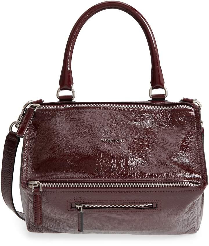 Givenchy Medium Pandora Creased Patent Leather Shoulder Bag