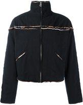 Telfar raw edge zipped jacket - men - Cotton - XL