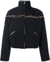 Telfar raw edge zipped jacket