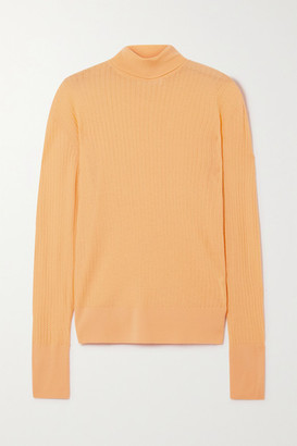 KING & TUCKFIELD Pointelle-knit Merino Wool Turtleneck Sweater