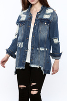 Hot & Delicious Distressed Denim Jacket