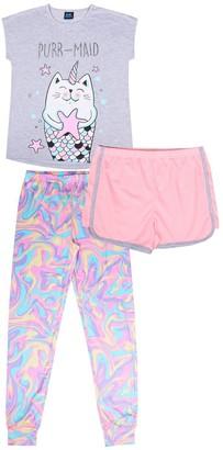 Jellifish Girls 4-12 Jelli Fish 3-piece Pajama Set