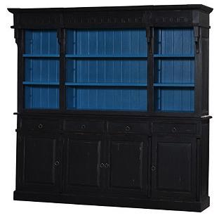 Grayson Bookcase, Black/Blue