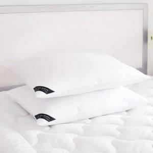 J Queen New York Royalty 233 Thread Count Cotton Allergen Barrier Down Alternative Pillow 2 Pack - King - Soft