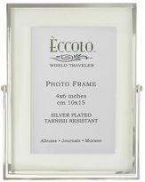 World Traveler Silverplate Floating Glass Frame