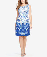 Lauren Ralph Lauren Plus Size Sleeveless Floral-Print Dress