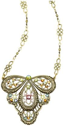 Anne Koplik Swarovski Crystal Filigree Necklace
