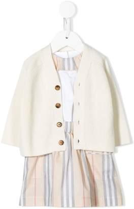 Burberry dress and cardigan set