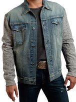 Stetson Western Jacket Men Denim Hood Knit L Light 11-097-0670-0544 BU