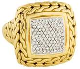 John Hardy 18K Diamond Classic Chain Cocktail Ring