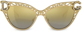 Dolce & Gabbana Eyewear baroque DG cat eye sunglasses