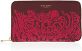 Henri Bendel West 57th Damask XL Zip Around Continental Wallet
