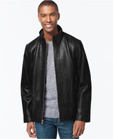 Andrew Marc Zip-Front Leather Jacket