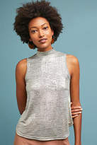 Anthropologie Shining Mock Neck Tank