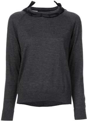 Simone Rocha ribbon bow detail sweater