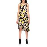 Manila Grace Asymmetrical Dress With Print
