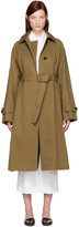 Jil Sander Tan Croquet Trench Coat