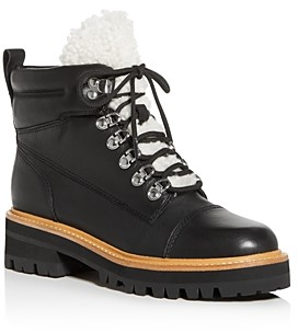 Marc Fisher Women's Idella Shearling Hiker Boots - 100% Exclusive