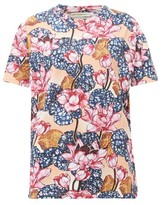 Mary Katrantzou Tierny Rose-print Cotton T-shirt - Womens - Pink Multi