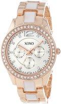 XOXO Women's XO5637 Rose Gold and White Bracelet Watch