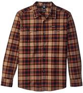 Volcom Martens Flannel Long Sleeve Shirt Boy's Long Sleeve Button Up