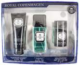 Royal Copenhagen 3 Piece Gift Set (Eau De Cologne Spray 3.3 Oz & Hair & Body Wash 3.4 Oz & Deodorant Stick 2.5 Oz) for Men, 3.3 fl. Oz.