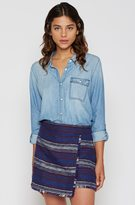 Joie Onyx B Chambray Top