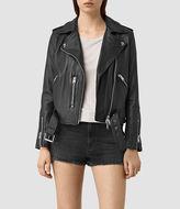 AllSaints Balfern Palm Leather Biker Jacket