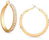 GUESS Gold-Tone Pavé Hoop Earrings