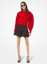 Michael Kors Cashmere Lantern-Sleeve Sweater
