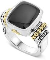 Lagos 18K Gold and Sterling Silver Medium Onyx Ring
