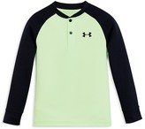Under Armour Boys' Colorblock Waffle Henley Tee - Little Kid, Big Kid