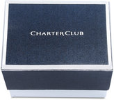 Charter Club Silver-Tone Crystal Cluster Bangle