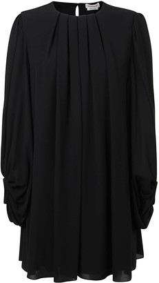 Alexander McQueen Oversize Back Keyhole Dress