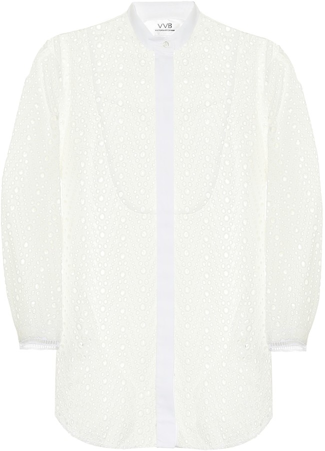 Victoria Victoria Beckham Broderie anglaise cotton blouse