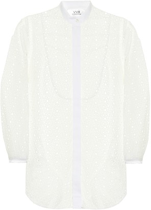 Victoria Victoria Beckham Broderie anglaise cotton blouse
