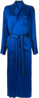 Haider Ackermann Satin Robe Dress