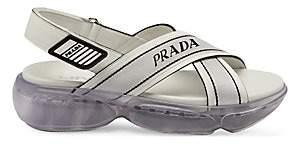 Prada Women's Nastro Flatform Sandals