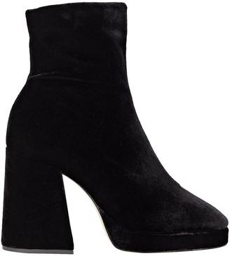 Schutz S-Carys Velvet Platform Ankle Boots