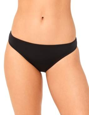 Macy's Salt + Cove Juniors' Solid Cinched-Back Hipster Bikini Bottoms, Created for Women's Swimsuit