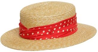 Maison Michel Kiki Raffia & Silk Hat