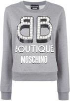 Moschino logo print sweatshirt - women - Cotton - 48