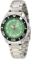 Croton Women's CA201228SSGR Green Dial Stainless Steel Watch