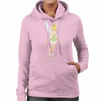 Disney Christmas Tinkerbell Festive Peter Pan Women's Hooded Sweatshirt Light Pink