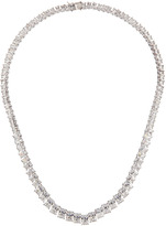 Kenneth Jay Lane CZ by Graduated Emerald-Cut Cubic Zirconia Necklace
