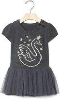 Gap Intarsia swan tutu dress