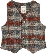Nupkeet Plaid Stretch-Cotton Vest