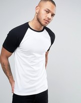 Asos Muscle T-Shirt With Contrast Raglan Sleeves