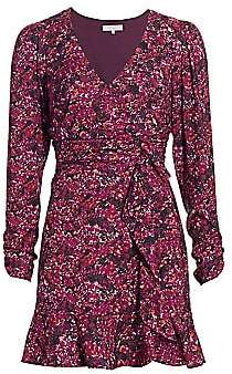 Parker Women's Alison Floral Long-Sleeve Ruffle Dress